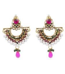 Buy Pink and Green Austrian Stone danglers-drops danglers-drop online
