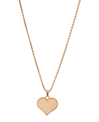 "Zinc Alloy Yellow Gold Plated ""Heart"" Pendant set"