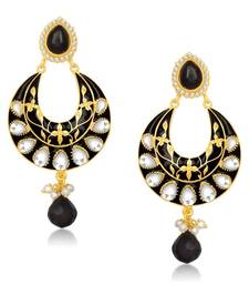 Buy Black Meenakari/Kundan danglers-drops Woman online