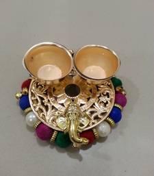 Buy Designer Multi-Colour Haldi-Kumkum Vati decorative-plate online