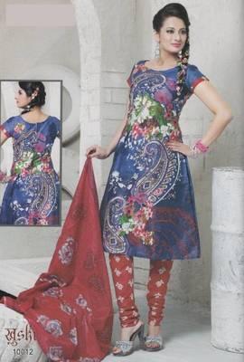 Dress Material Cotton Designer Prints Unstitched Salwar Kameez Suit D.No 10012