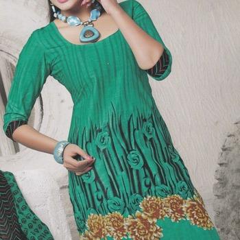 Dress Material Cotton Designer Prints Unstitched Salwar Kameez Suit D.No 10023