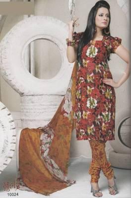 Dress Material Cotton Designer Prints Unstitched Salwar Kameez Suit D.No 10024