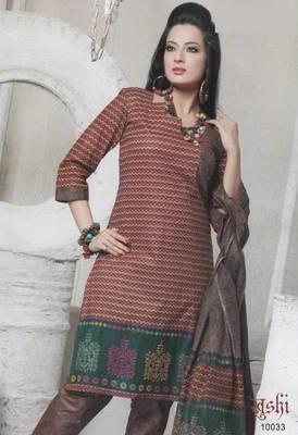 Dress Material Cotton Designer Prints Unstitched Salwar Kameez Suit D.No 10033
