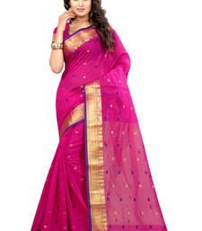 Buy Pink woven jacquard saree with blouse jacquard-saree online