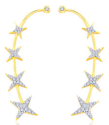 Buy Gold diamond ear-cuffs ear-cuff online