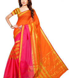 Buy Multicolor Woven Cotton Silk Saree With Blouse manipuri-silk-saree online