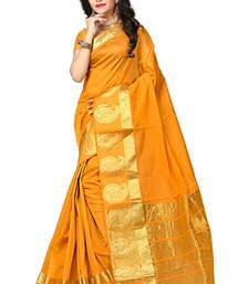 Buy Mustard woven manipuri silk saree with blouse manipuri-silk-saree online