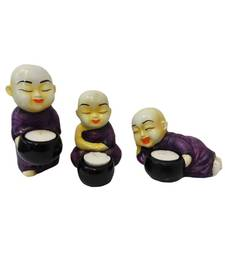 Buy Set of 3 Monks Candle Stands candle online