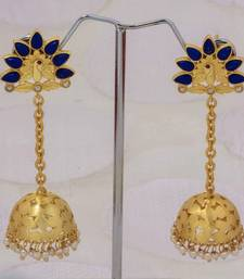 Buy Navy blue long jumka jhumka online