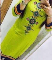 Buy Green semi stitched georgette semi stitched kurti georgette-kurti online