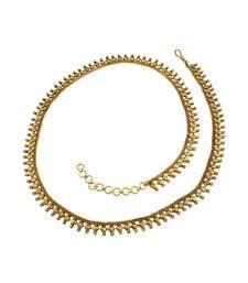 Buy Golden Beige Polki Stones Waist Belt Kamar patta Jewellery for Women - Orniza waist-belt online