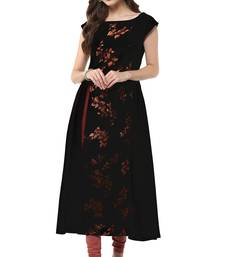 Buy Black printed crepe party-wear-kurtis party-wear-kurtis online