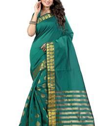 Buy Rama printed tussar silk saree with blouse tussar-silk-saree online