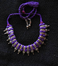 Buy Silver metallic necklace-sets necklace-set online