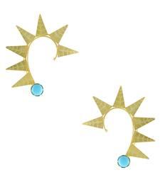 Buy Blue Designer Ear Cuffs Earrings Jewellery for Women - Orniza ear-cuff online