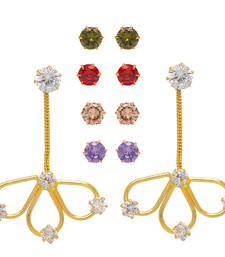 Buy Stylish Handmade Changeable Stones American Diamond Earrings combo-earring online
