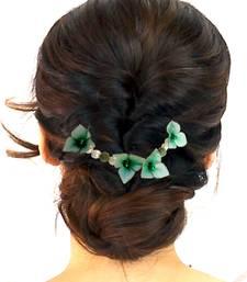Buy Beautiful & Fancy hair Flower Accessories Brooch with wedding party wear hair-accessory online