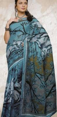 Sarees cambric cotton designer prints with blouse piece d.no 942
