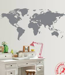 Buy World Map wall Stick on wall-decal online
