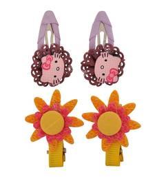 Buy 4 Tic Tac Hair Clips Yellow Purple Dailywear Schoolwear hair-accessory online