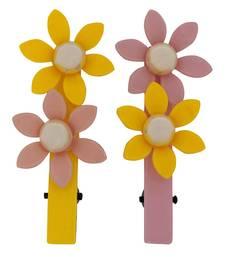 Buy 2 Tic Tac Hair Clips Yellow Dailywear Schoolwear hair-accessory online