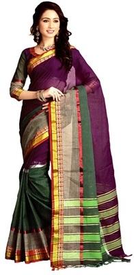 purple maheshwari saree with blouse