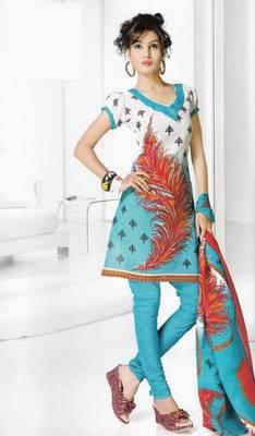 Dress material cotton designer prints unstitched salwar kameez suit d.no B10017