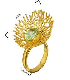 Buy 2.7 ct yellow studded jewellery gemstone rings gemstone-ring online
