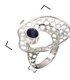 Buy 1.26 ct silver studded jewellery gemstone rings gemstone-ring online