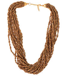 Buy Golden Color Handmade Artificial Jewellery With Metal Thread And Beads party-jewellery online