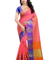 Buy Orange hand woven banarasi silk saree with blouse black-friday-deal-sale online