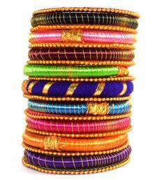 Buy Gota dori for women and girls  multicolor silk thread bangle 2.6 (19 pcs) bangles-and-bracelet online