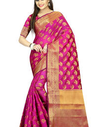 Buy Rani woven cotton saree with blouse cotton-saree online