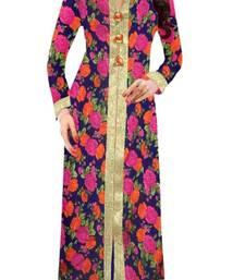 Buy Blue printed cotton kurtis cotton-kurti online