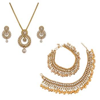 Gold diamond jewellery-combo
