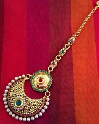Blue ram leela inspired goddess Lakshmi motif ginni coin earring j20b