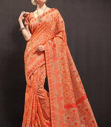 Buy orchid woven organza saree with blouse organza-saree online