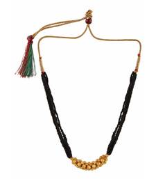 Buy traditional yellow gold thushi design mangalsutra pendant for women mangalsutra online