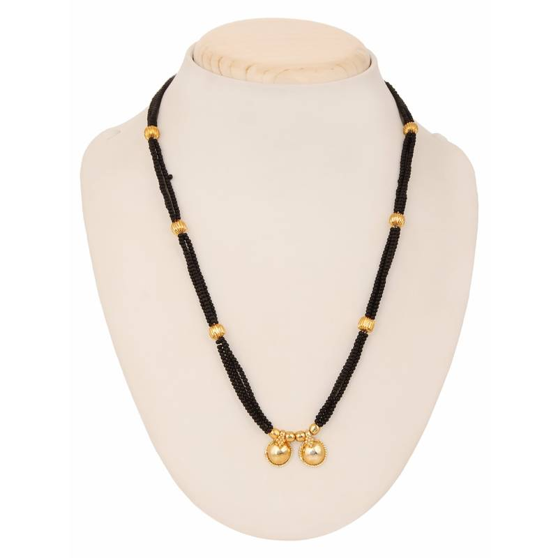 Buy traditional yellow gold wati design mangalsutra pendant for yellow gold wati design mangalsutra pendant for women aloadofball Gallery
