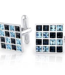 Buy Blue swarovski crystal other cufflink online