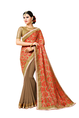 Multicolor Manipuri Prints Saree With blouse