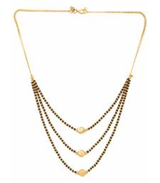 Buy Gold plated ethnic mangalsutra pendant with chain for women mangalsutra online