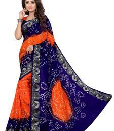 Buy Blue embroidered silk saree with blouse bandhani-sarees-bandhej online
