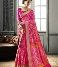 Buy Pink woven patola saree with blouse heavy-work-saree online