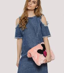 Buy Blue Denim dresses ganpati-dress online