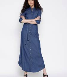 Buy Blue Denim dresses dress online