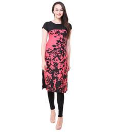 Buy Pink printed crepe ethnic-kurtis ethnic-kurti online