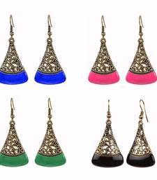 Buy Combo of oxidised antique fancy party wear dangler earrings for girls and women combo-earring online