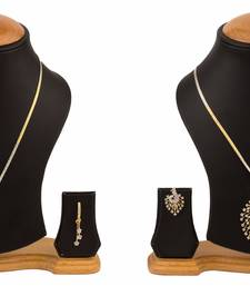 Buy Amercan Diamond Pendant Necklace Set Combo for Women & Girls necklace-set online
